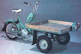moped med lasteplan